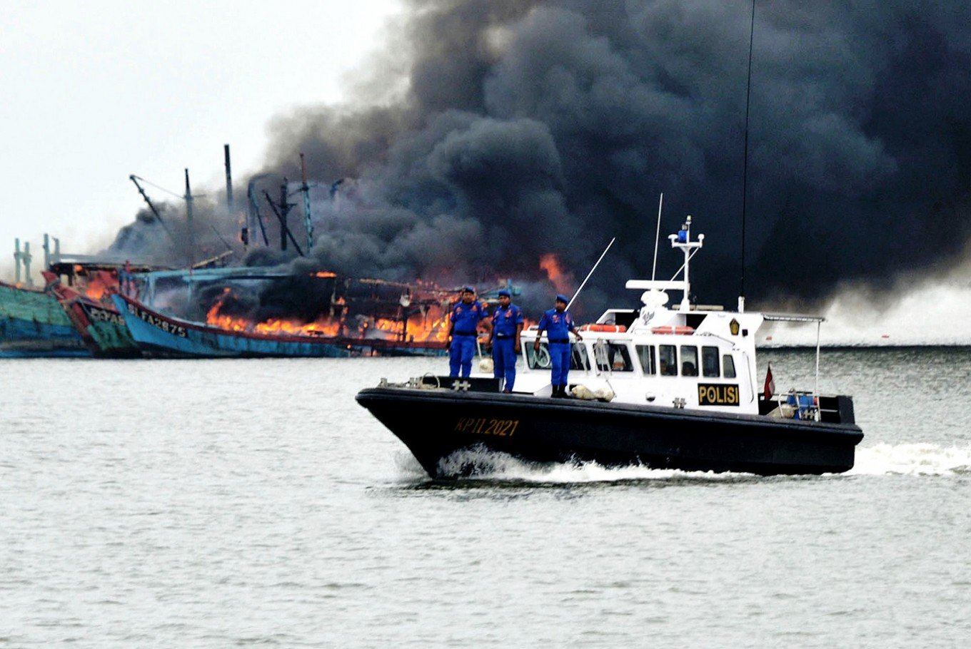 Sinking Illegal Fishing Ships, Indonesia