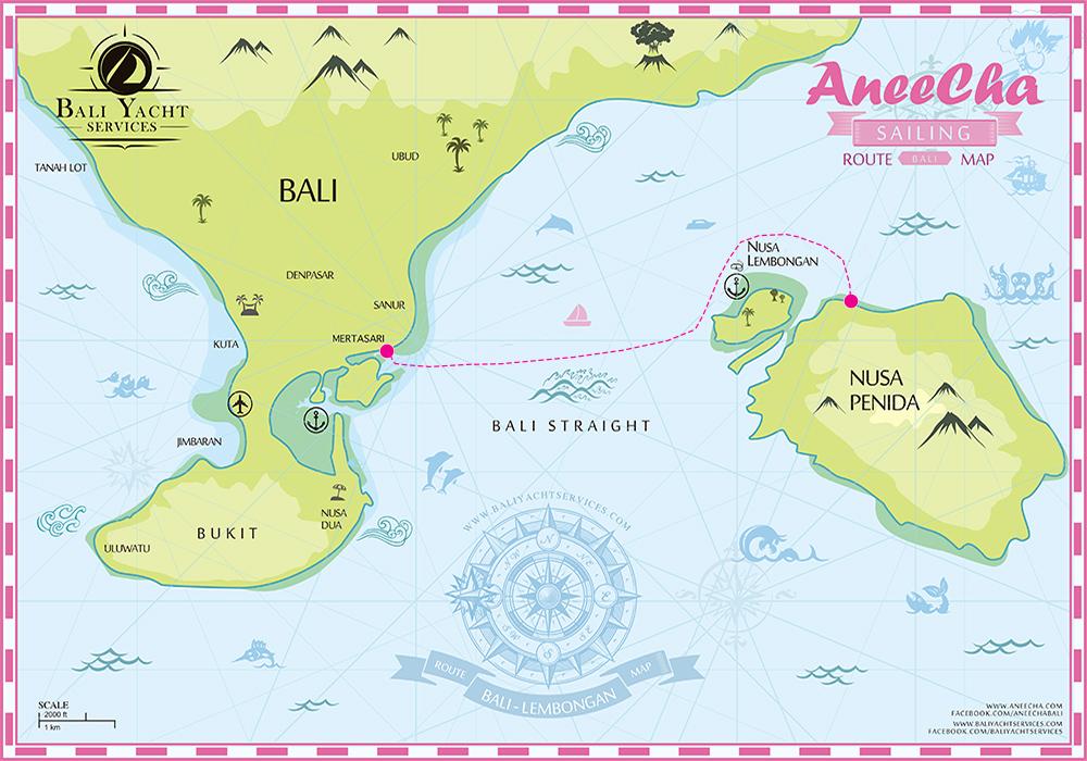 Cruise Map Bali Departure