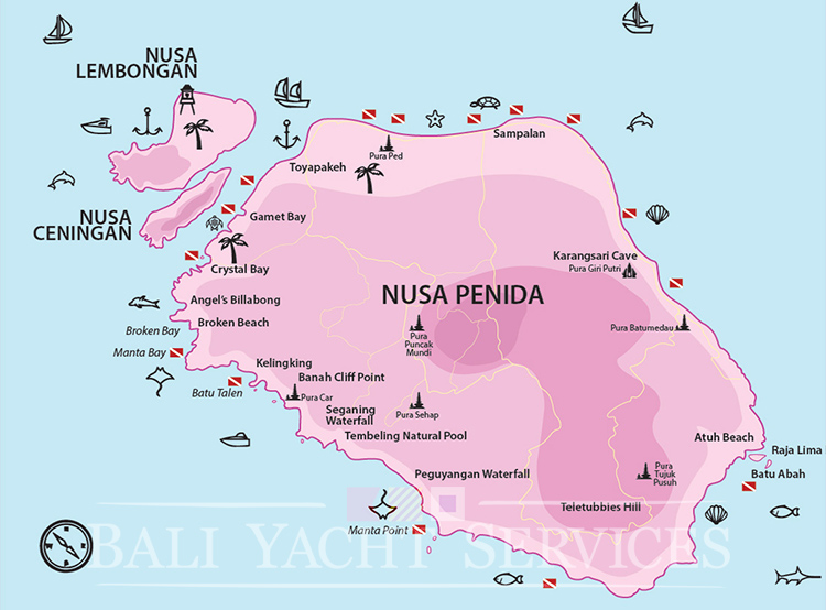 Map of Nusa Penida